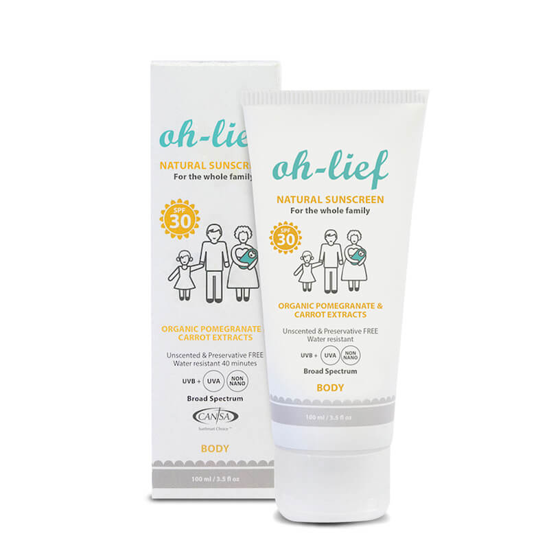 Oh-Lief Natural Body Sunscreen -100ml