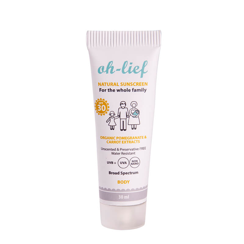 Oh-Lief Natural Body Sunscreen -30ml