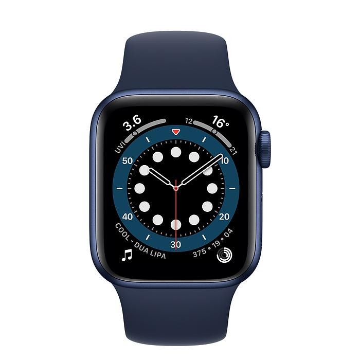 Apple Watch Series 6 Blue Aluminum Case with Deep Navy Sport Band GPS - iStock BD