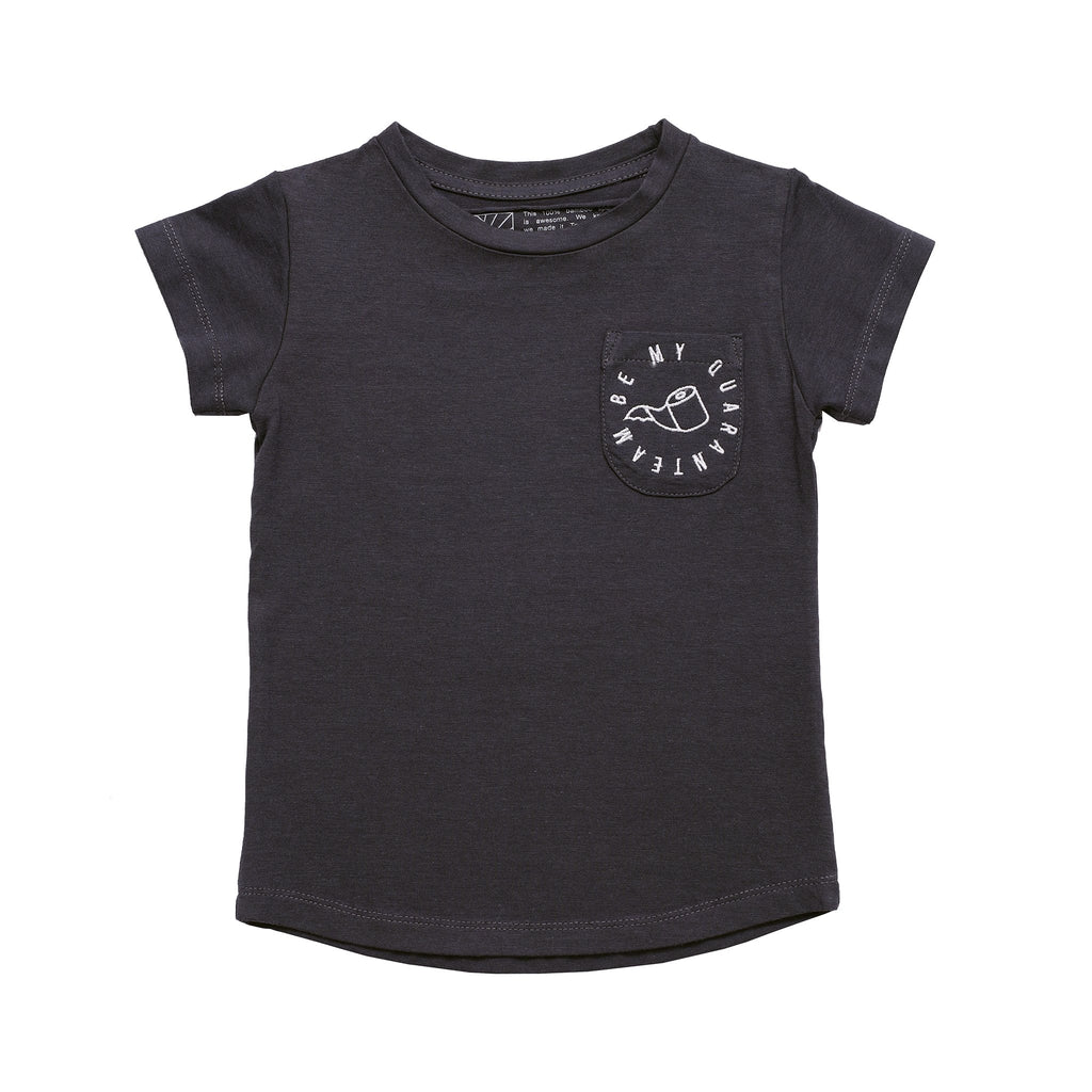 DUXTON KIDS | Be My Quaranteam Pocket Tee - Coal