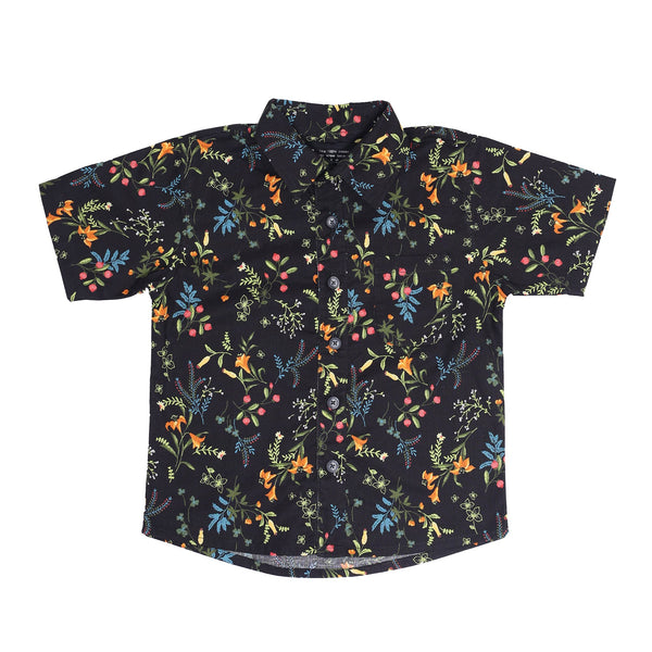 DUXTON KIDS | Aloha Jr Shirt - Black Floral