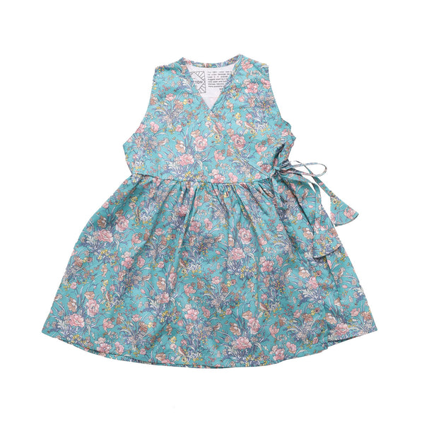 DUXTON KIDS | Sleeveless Dress - Teal Floral