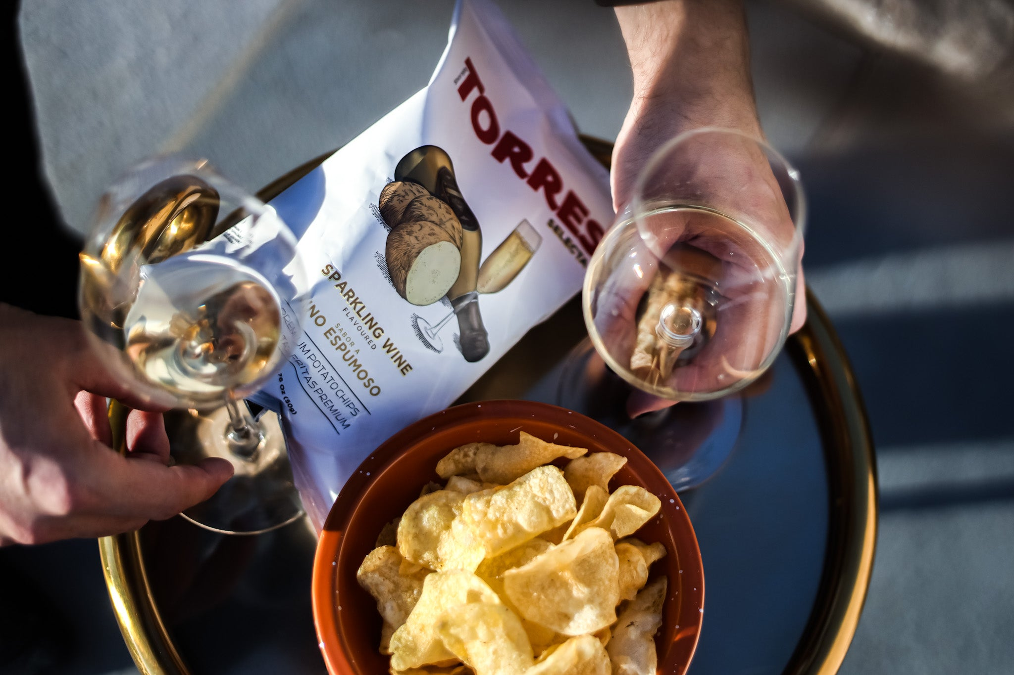 Wine and sparking wine chips