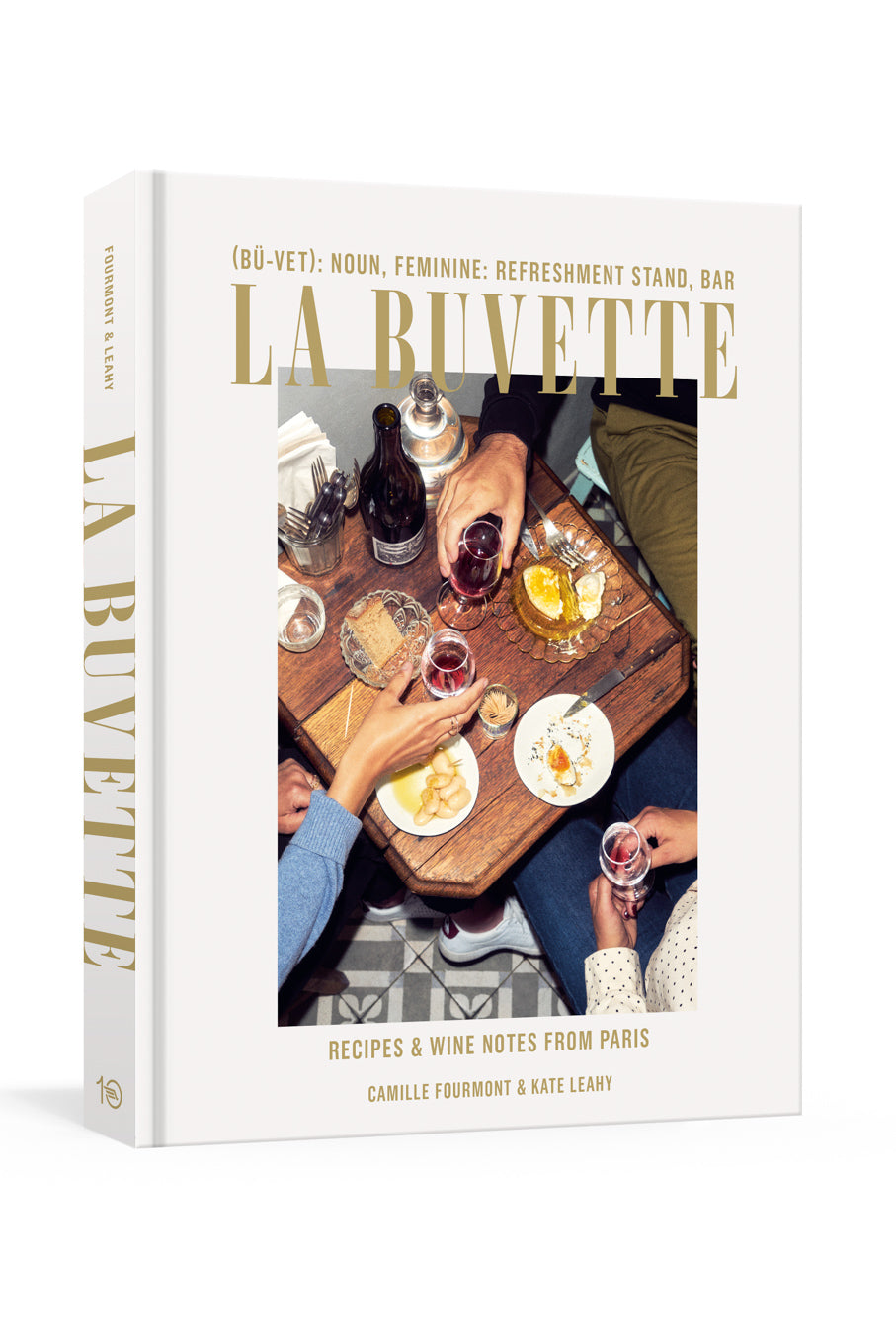 La Buvette recipes and wine notes in low light