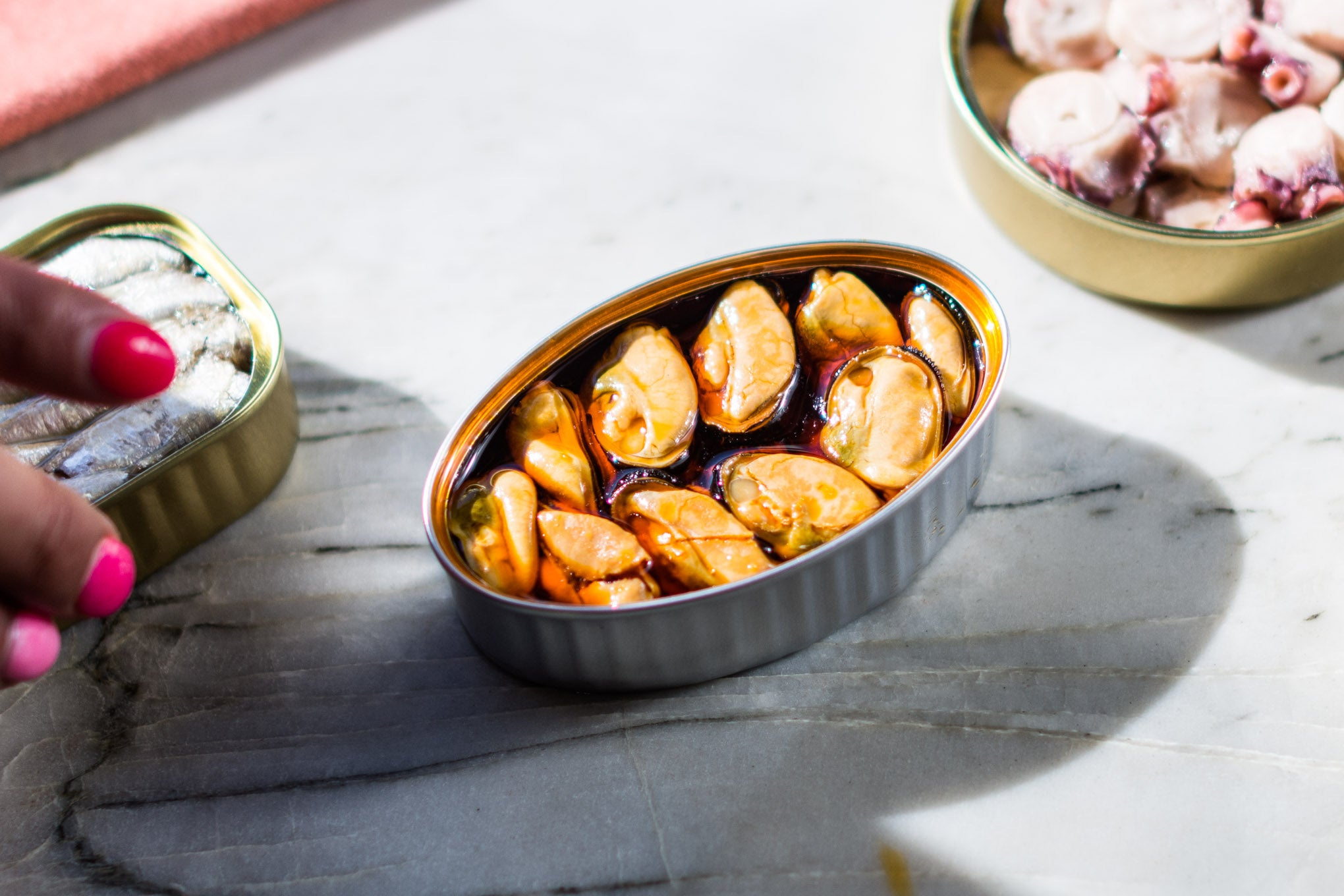 Small Mussels in Escabeche tin