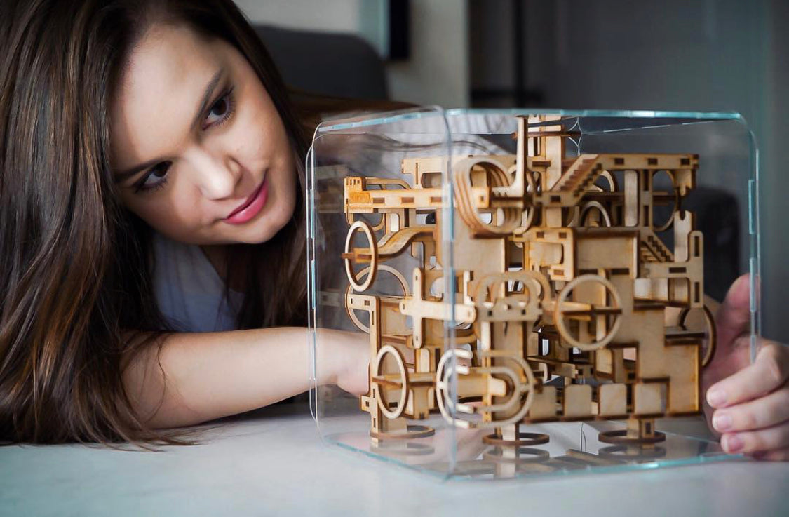 Intrism Pro 3D Wooden Puzzle Maze & Labyrinth Cube for Adults and Teens