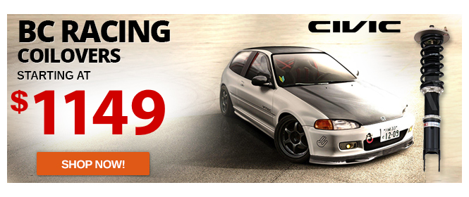 BC Racing BR Series Coilovers Honda Civic Lowest Price