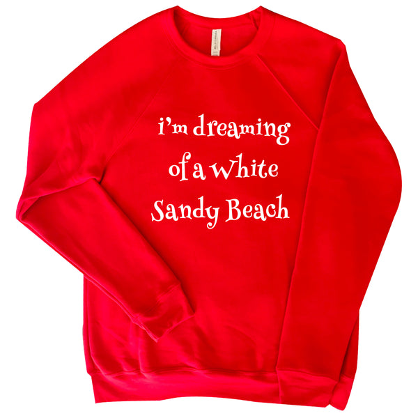 FUNNY RED COTTON FLEECE SWEATSHIRT HUMOROUS  HOLIDAY SONG
