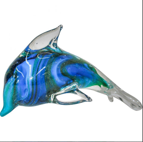 Glass Dolphin Paperweight - Falling For Willow