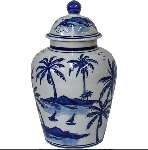Vintage Tropical Ginger Jar - Falling For Willow