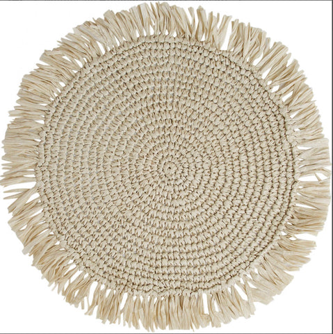 Woven Fringe Placemat - Falling For Willow