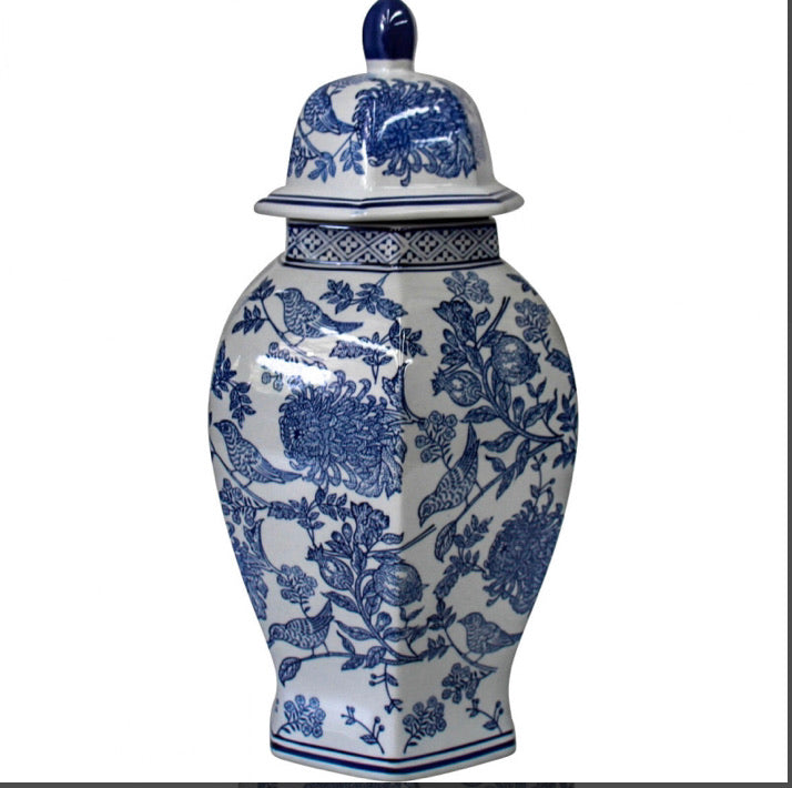 Blue Bird Pomegranate Ginger Jar - Falling For Willow