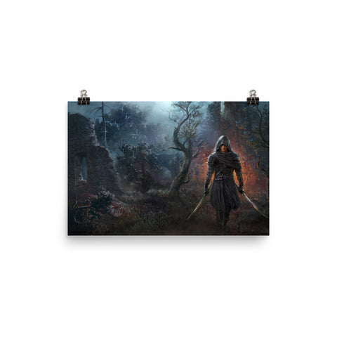 Blade of Shadows Wall Art
