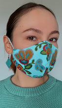 Load image into Gallery viewer, Light Blue Face Mask with Beaded Pattern