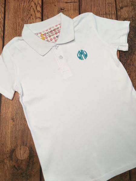 Boys Monogrammed Collared Shirt
