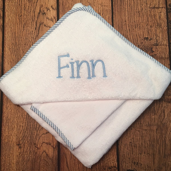 Personalized Hooded Towel and Bath Mitt