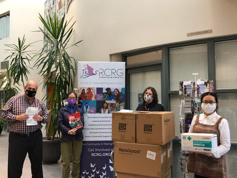 Donation of KN95 and Level 2 procedure masks to Richmond Cares.