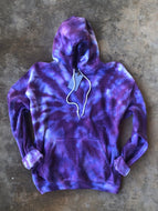 Purple Tie-dye Casual Hooded Sweatshirt