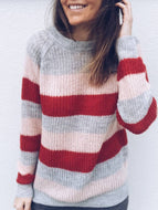 Rainbow Striped Knitted Sweater