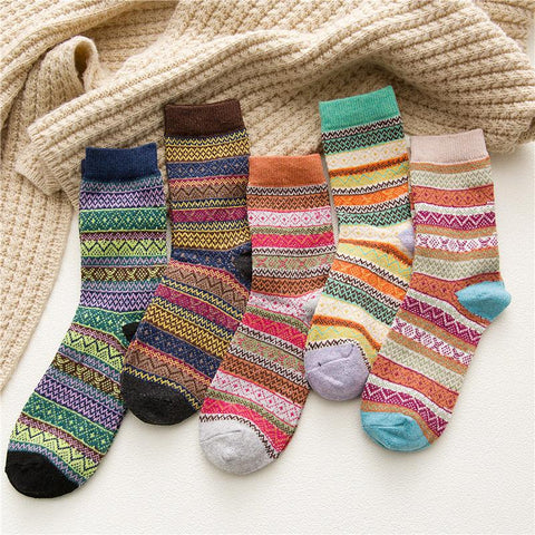 Ethnic Retro  Thick Warm Ladies Wool Socks