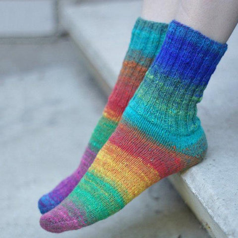 Colorful striped cotton socks