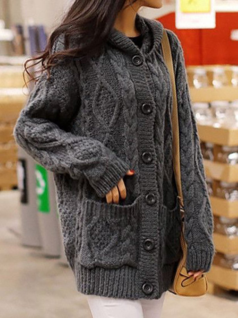 Cardigan chunky oversized style Long Coat