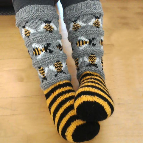Bee jacquard cotton socks