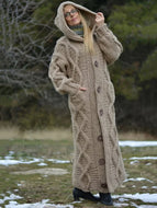 Cardigan Women, Long Hooded Cardigan Hand Knitted Pocket Sweater Coat