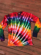 Tie-dyed Casual Long-sleeved Top