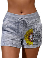 Pattern Quick Dry Shorts Yoga Pants Stretch Shorts Pants-11