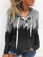 Hooded Loose-fitting Women's Sweater