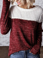Autumn and Winter Fashion Hollow Stitching Pullover Sweater