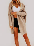 Autumn and Winter Loose Knit Cardigan Mid-length Coat