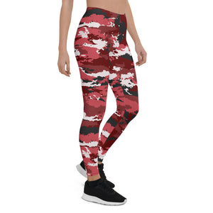Red Camo Leggings for Women