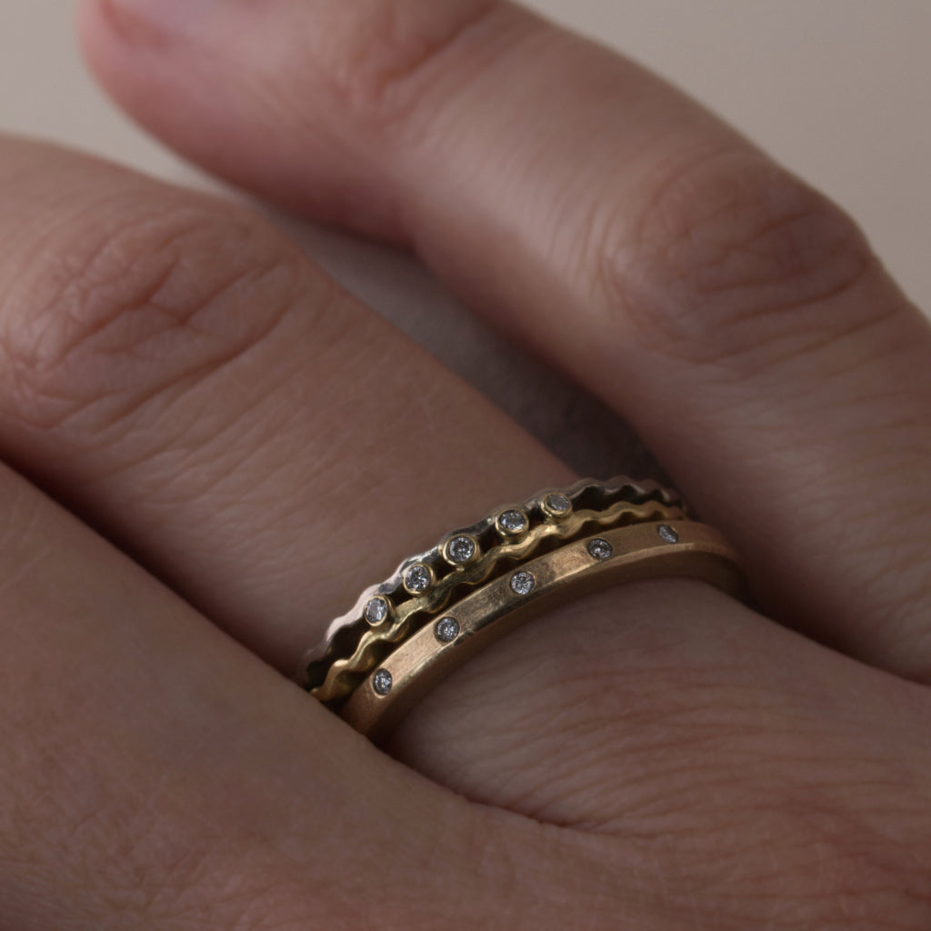 Celestial & Strata Rings Set - Gold