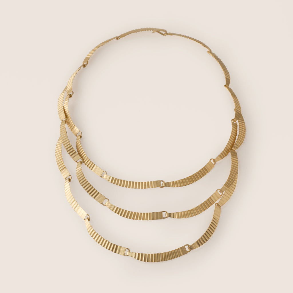 Statement Kyoto Necklace - Gold Plated