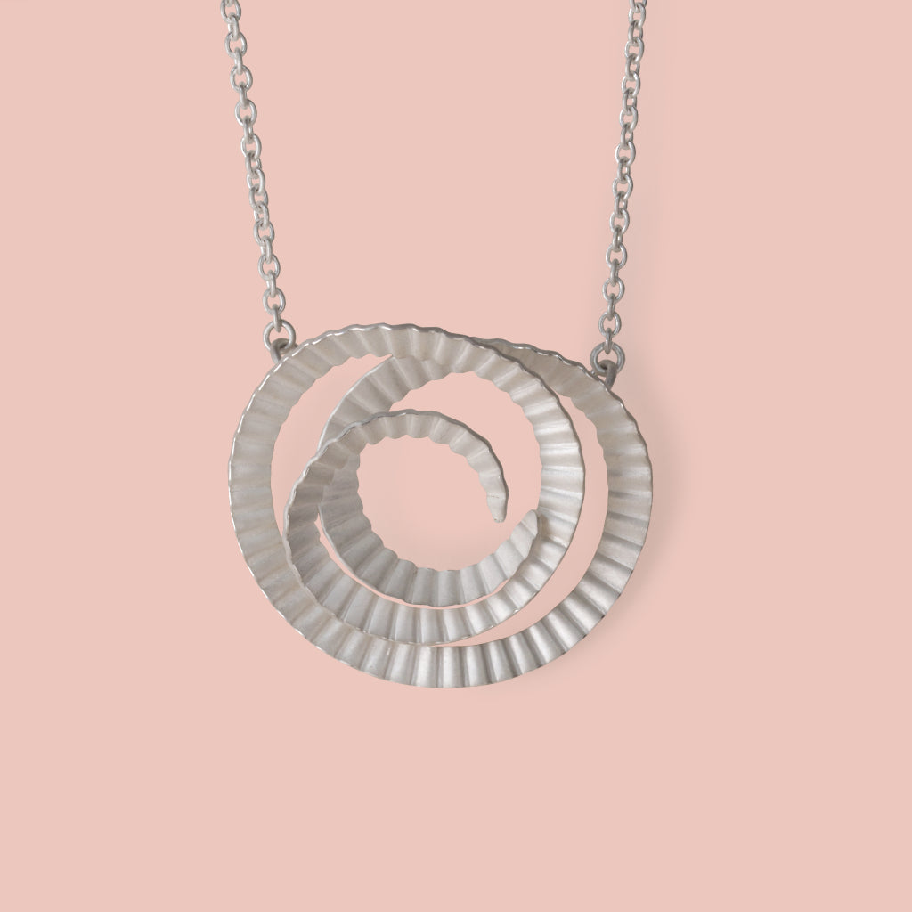 Spiral Necklace - Medium - Silver