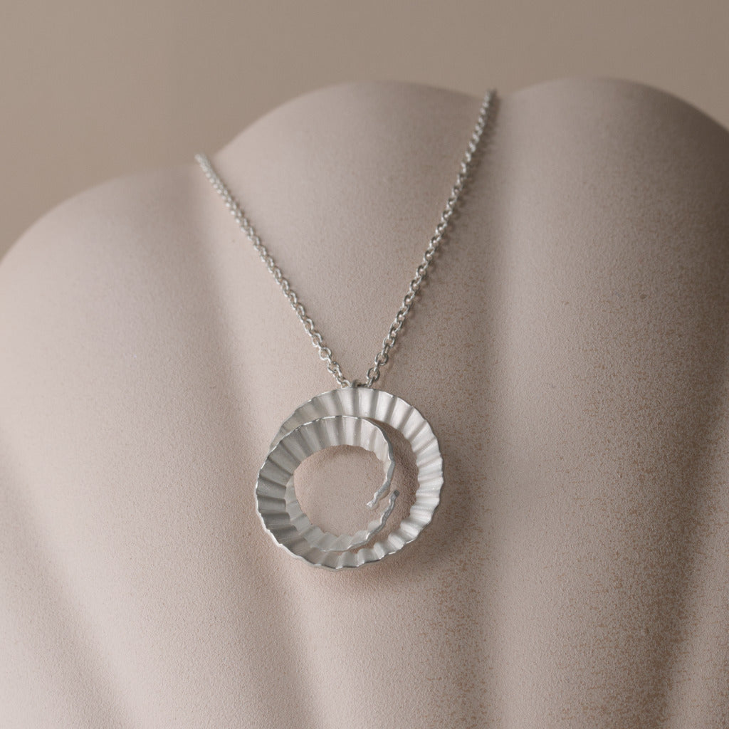 Spiral Necklace - Small - Silver