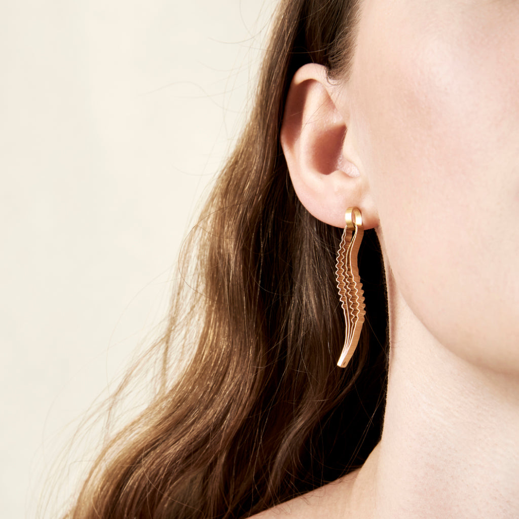 Strata Earrings - Gold Plated