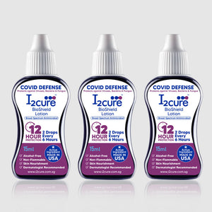 I2Cure BioShield Lotion (15mL) Pack of 3