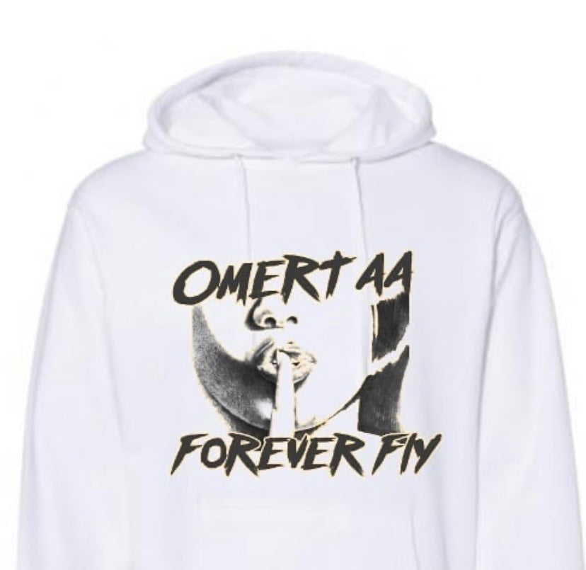 #Hoodie Season-White w/ Yellow Outline