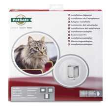 Load image into Gallery viewer, Installation Adaptor for Microchip Cat Flap & Manual-Locking Cat Flap (White)