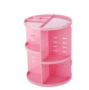 360 degree makeup organizer - pink - furniture accessories