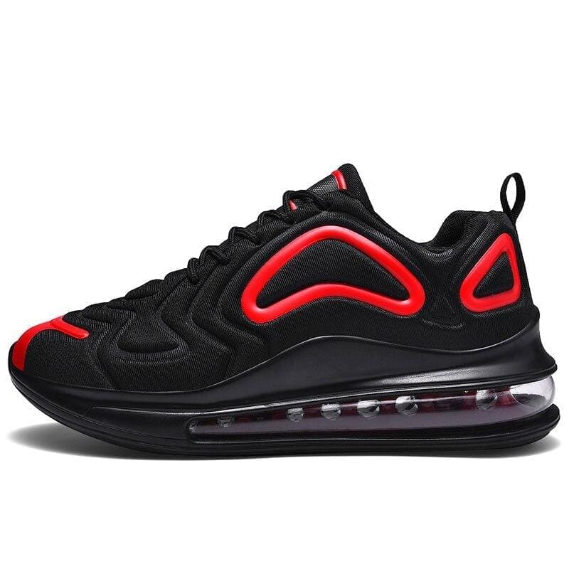 Breathable shoes for men and women - black red / 8.5 - boost