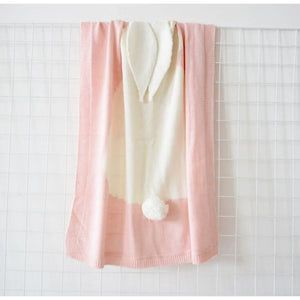 Cartoon baby blanket throws - pink rabbit - blankets