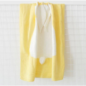 Cartoon baby blanket throws - yellow rabbit - blankets