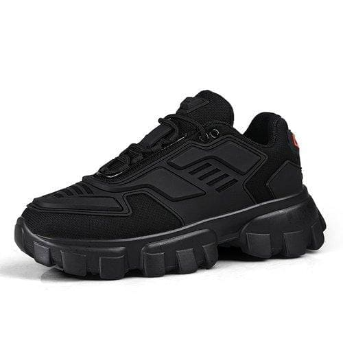 Chunky trainers footwear breathable shoes - black / 35 -