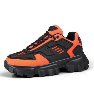 Chunky trainers footwear breathable shoes - orange / 35 -