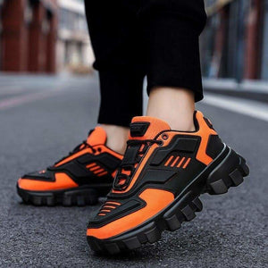 Chunky trainers footwear breathable shoes - orange / 38 -