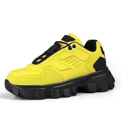 Chunky trainers footwear breathable shoes - yellow / 35 -